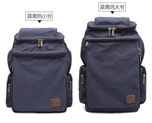 Super Lage Mit Rucksack, Leinwand, Computer - Tasche, Reisetasche, Männer Und Frauen Flut Tasche, Große In Der Tasche Big blue