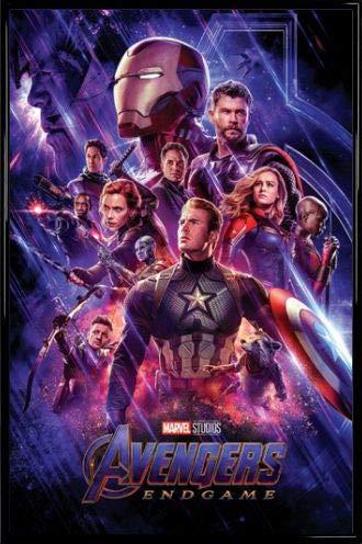 1art1 The Avengers Poster und Kunststoff-Rahmen - Endgame, Journey's End (91 x 61cm) - End-rahmen