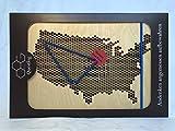 Questlog Reisetagebuch Amerika USA, markiere mit dem Faden Deine Route, lege Erinnerungsstücke in die Holzbox und notiere Deine Reisenotizen.