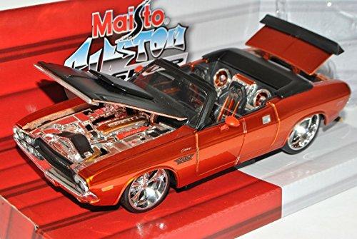 dodge-challenger-r-t-cabrio-orange-gold-1970-tuning-1-24-maisto-modell-auto
