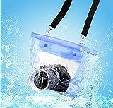 Funda azul impermeable para cámaras SLR y DSLR de Hensych.