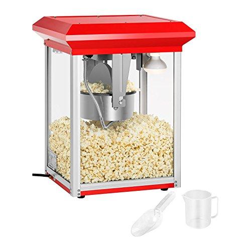Royal Catering Popcornmaschine Popcornmaker RCPR-1135 (1.325 W, Zubereitungszeit 180 s, Teflonbeschichtung, max. Kapazität Kessel 1.350 ml, inkl. Schaufel Messbecher) Rot
