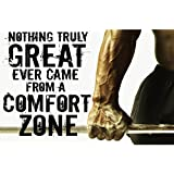 PRINTELLIGENT Gym Inspirational Quote Poster - (300 Gsm Paper, 12x18-inches, Black)
