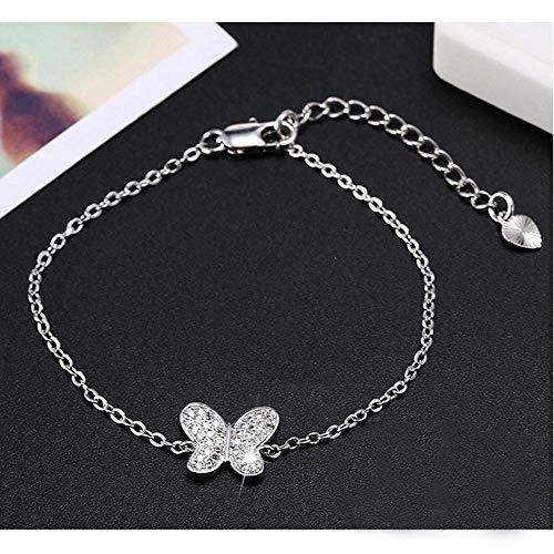 Dixinla Armband,925 Sterling Silber Bogen-Set Mode Diamant Armband Female Mädchen großes Geschenk