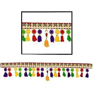 Amba Toran Toran/Fensterbehang / Traumfänger, Heimdekor, für Innendekoration, Pooja, Bandanwaar, Diwali, Geschenk, Festival, buntes indisches Handwerk
