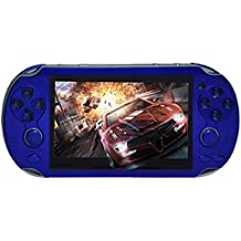 Leoie 4.3'' Multi-Function Portable Game Handheld Game Console 4Gb Memory Built In Video Camera Various No-Repeat Games Blue