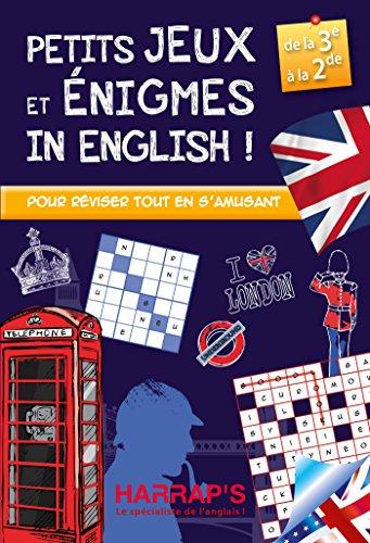 Harrap'S Petits Jeux et Petites Enigmes 100 % British 3-2 - Cahier de vacances par Sandra Lebrun
