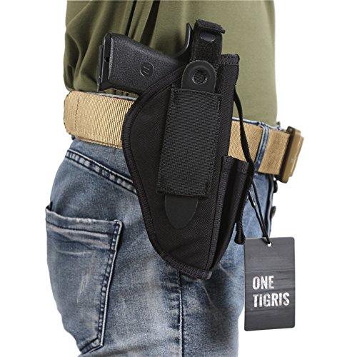 OneTigris-Custodia a pistola/Holster di cintura tattica per il tiratore Mancini e Destrimani, nero