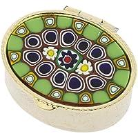 GlassOfVenice Pillendose aus Muranoglas, oval, klein preisvergleich bei billige-tabletten.eu