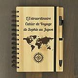 La Geekerie Cahier Bambou de Voyage Personnalisable