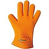 Wotek de silicona guantes para asar, hornear guantes, barbacoa guantes y agarraderas perfecto anti-calor, buena herramienta para la cocina-a prueba de agua hirviendo, de un tamaño más (Solo uno)