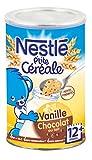 Nestlé Bébé P'tite Céréale Chocolat au Lait Vanille - Céréales Déshydratées dès 12 Mois - Boîte de 400g - Lot de 4