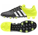 adidas Ace 15.2 Firm Artificial Ground Herren Fußballschuhe, Nero (Noir (Core Black/White/Solar Yellow)), 44 EU