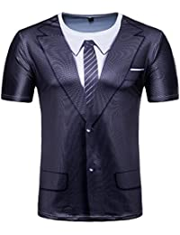 Corte Da Uomo Finte Due Styledresser t Maniche UomoMaglietta abbigliamento Stampate Shirt Uomo Uomo… T ZuOXwTkPil
