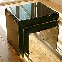 3 mesas auxiliares de acrílico negro de 8 mm, bordes pulidos