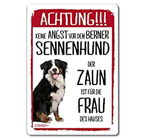 siviwonder schild hunde berner sennenhund achtung witzig. Black Bedroom Furniture Sets. Home Design Ideas