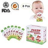 ChooMee Tapas para bolsitas de alimento reutilizable para el beb/é 4 piezas P/úrpura