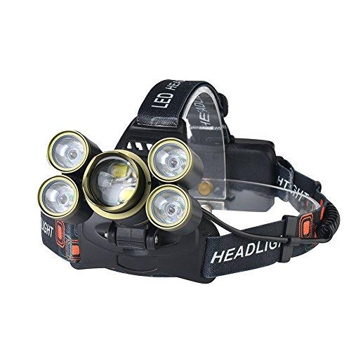 zantec Scheinwerfer Notfall Scheinwerfer LED USB wiederaufladbare Drücken Schalter Angel Adjustment Camping Taschenlampe mit verstellbarem Kopfbügel