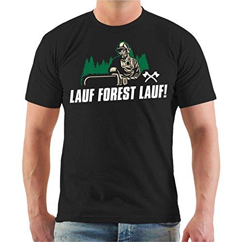 Männer und Herren T-Shirt Lauf Forest Lauf Größe S - 8XL