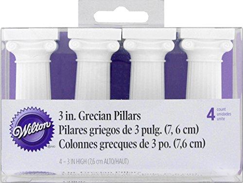 Grecian Cake Pillars, 7.6cm (3in) pack of 4