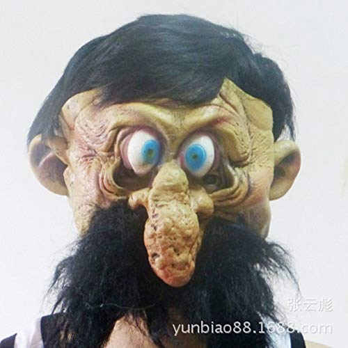 SCLMJ Halloween Terror Maske Lustige Perücke Nase Latex Maske