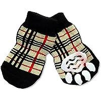 Calzini antiscivolo Animale domestico calze 4 pcs cotone Natale cane cucciolo gatto calze