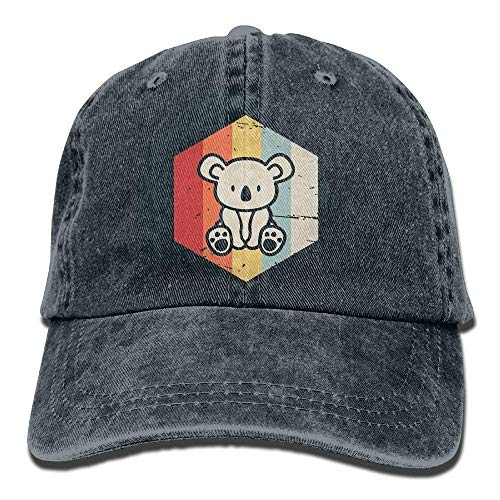 Aoliaoyudonggha Mens/Womens Retro Koala Cotton Denim Baseball Cap Adjustable Dad Hat Ashton Denim