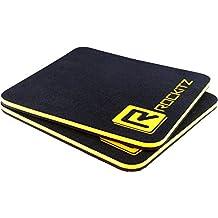 Alternativa a guantes de levantamiento de pesas y guantes de gimnasia | ROCKITZ premium almohadillas de agarre con la tecnología compuesto de tres capas que cambia el juego | Guantes de culturismo y fitness (Amarillo|Negro|Neon Amarillo)