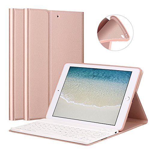 GOOJODOQ Funda Teclado iPad 2017/2018 9.7/ iPad Air