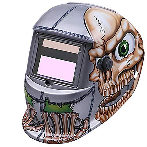 Máscara de soldadura Máscara de soldadura - Máscara de atenuación automática solar, vidrios de atenuación, tapa de soldadura, soldadura con gas, protección de soldador de arco de argón -@