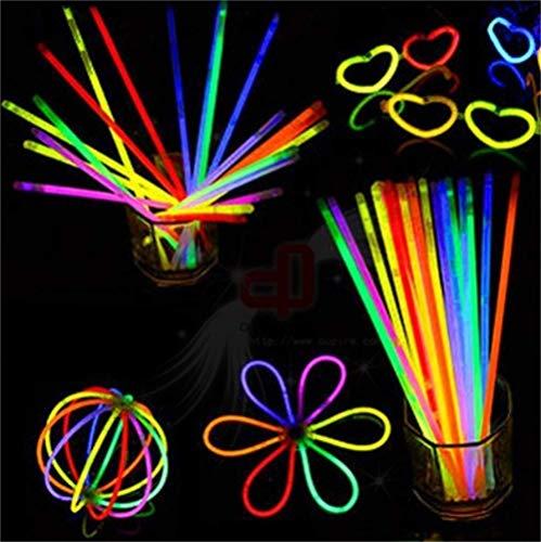 Kanggest 50 Knicklichter Glow Sticks Leuchtstäbe Knicklichter leuchtender Armring Party Armband als Mitgebsel für den Kindergeburtstag