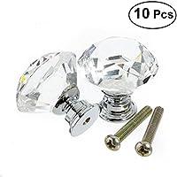 OUNONA 10x cristal de diamante Moebelknopf Moebelknoepfe Brazos de muebles Moebelknauf manija del gabinete del mango, de 30 mm