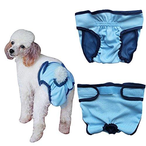 Bild: YiZYiF Hundeschutzhosen für Hunde Hündinnen Läufigkeit Unterhose Unterwäsche Hundehöschen XSXL Blau S