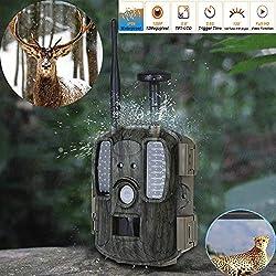 Caméra De Chasse 4G FDD-LTE Caméra Chasse Wild Caméra Night Vision 12MP 1080 P Vidéo HD avec Pièges À Photos GPS Caméra Trail Hunter Envoie des Photos Directement À Votre Téléphone