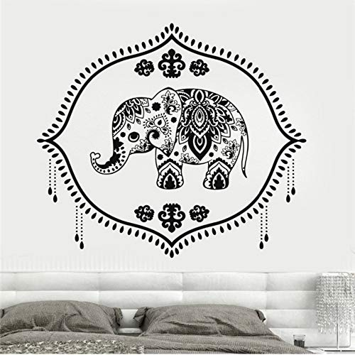 Czxmp Neuheiten Vinyl Wandtattoo Indien Baby Elefant Kindergarten Hinduismus Hindu Aufkleber Mädchen SchlafzimmerWandaufkleberhome Design56 * 63 Cm