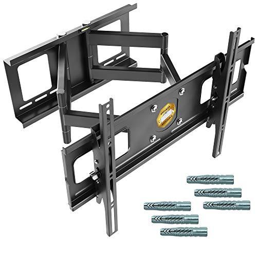RICOO R06-F, TV Halterung Neigbar, TV Wandhalterung Schwenkbar, Universal 40-75 Zoll (102-191cm) Curved-, Flachbild-Fernseher, VESA 600x400, Schwarz