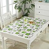 HM&DX PVC Kunststoff klar Tischdecken Wasserdicht Ölfreie Abwaschbar Tabelle cover tuch protektor Schreibunterlage Für küche kaffee esstische-Grün 70x120cm(28x47inch)