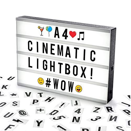 DAKANG Caja Luz Cinematográfica Tamaño A3 100 Letras