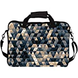 """Snoogg Small Triangle Pattern Design 14"""" 14.5"""" 14.6"""" Inch Laptop Notebook SlipCase With Shoulder Strap Handle Sleeve Soft Case With Shoulder Strap Handle Carrying Case With Shoulder Strap Handle For Macbook Pro Acer Asus Dell Hp Sony Toshib"""