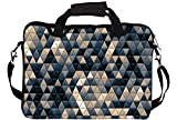 "Snoogg Small Triangle Pattern Design 14"" 14.5"" 14.6"" inch Laptop Notebook SlipCase With Shoulder Strap Handle Sleeve Soft Case With Shoulder Strap Handle Carrying Case With Shoulder Strap Handle for Macbook Pro Acer Asus Dell Hp Sony Toshiba"