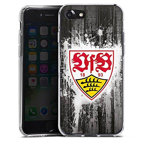 Apple iPhone 8 Silikon Hülle Case Schutzhülle VfB Stuttgart Fanartikel Bundesliga Fußball Silikon Case transparent