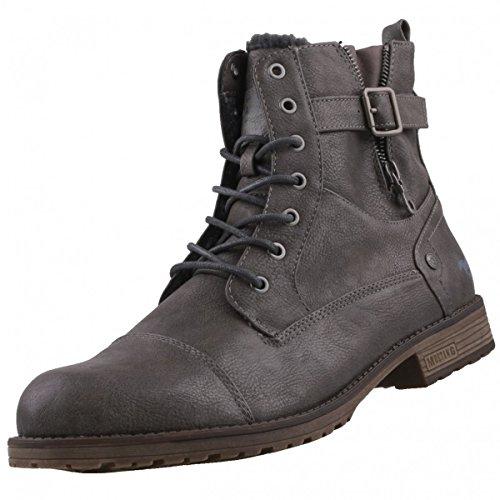 Mustang Herren Stiefel gefüttert Grau, Schuhgröße:EUR (Stiefel Herren)