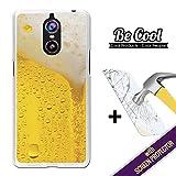 Becool® - Funda Gel Flexible para Doogee Shoot 1, [ +1 Protector Cristal Vidrio Templado ], Carcasa TPU fabricada con la mejor Silicona, protege y se adapta a la perfección a tu Smartphone y con nuestro exclusivo diseño. Cerveza rubia.