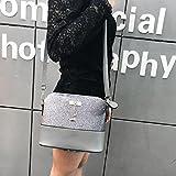 Handbag, New Women Messenger Bags Vintage Small Shell Leather Handbag Casual Bag (Agray)