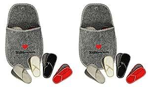 COM-four ® invités pantoufles en feutre lot de 5 pièces (2)