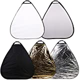 CowboyStudio Photography Photo Portable Grip Reflector 48inch 5in1 Triangle Collapsible Multi Disc Reflector with Handle
