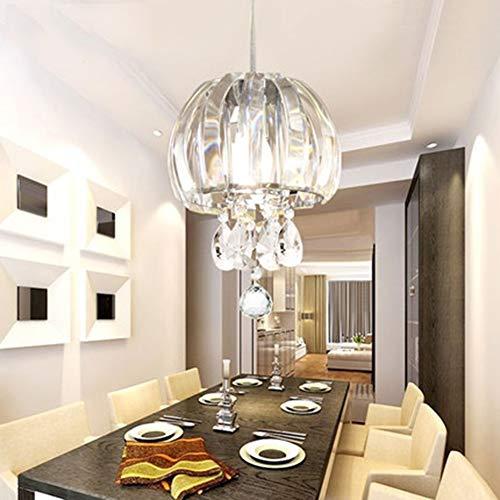 UBEN Kristallglas Anhänger Kronleuchter Deckenleuchte Für Esszimmer, Schlafzimmer, Wohnzimmer, Durchmesser 18 Cm - Durchmesser Übergangs-anhänger