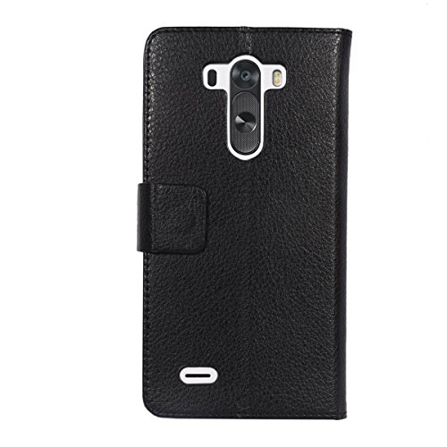 Turtle LG G3 Flip Cover, Slim Case Cover, Protective and Stylish Case for LG G3 – Black