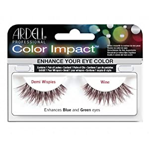 (3 Pack) ARDELL Color Impact False Lashes - Wine Demi Wispies