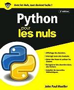 Python pour les Nuls, grand format, 2e édition de John Paul MUELLER